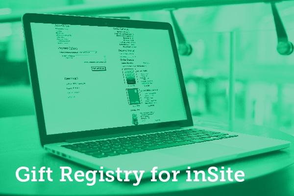 Gift Registry for inSite