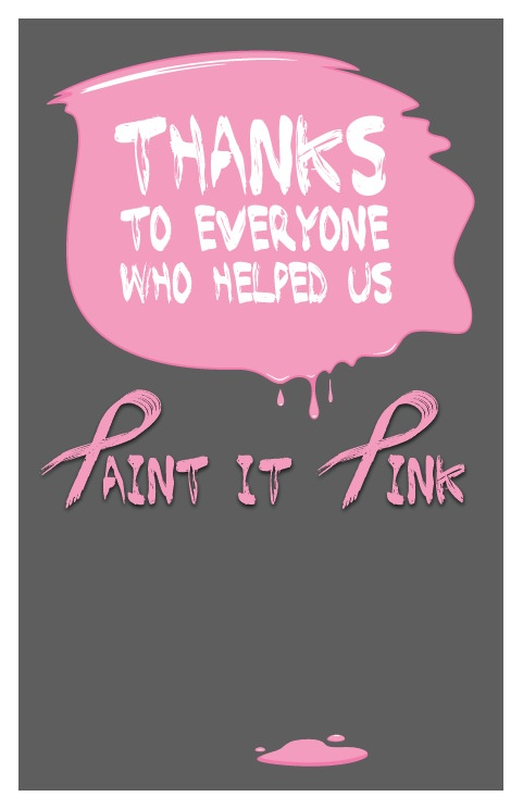 "Download: ""Paint it Pink"" Thank You Poster"