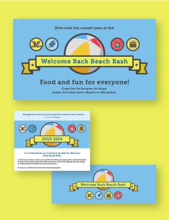 """Download: """"Welcome Back Beach Bash"""" marketing kit"""